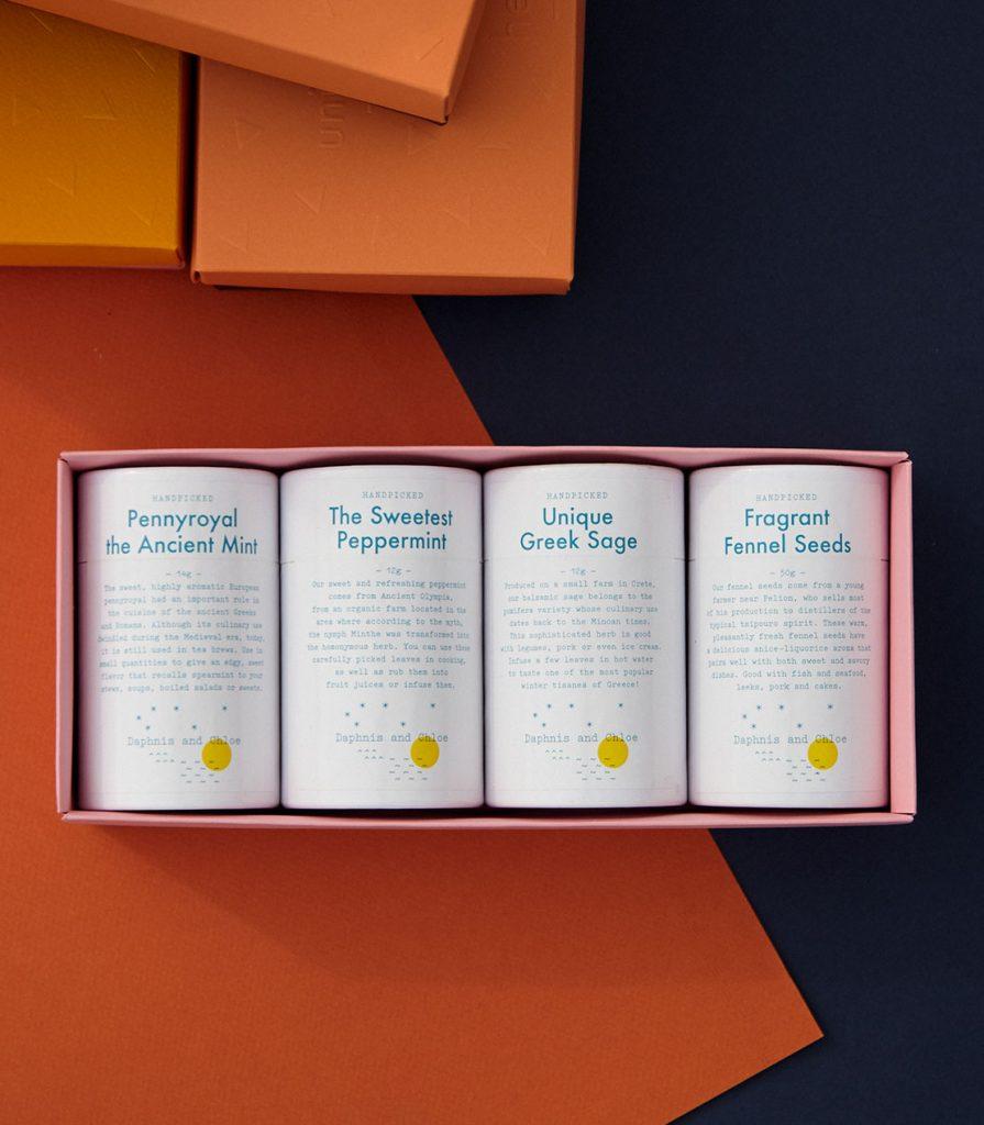 herbal teas set daphnis and chloe