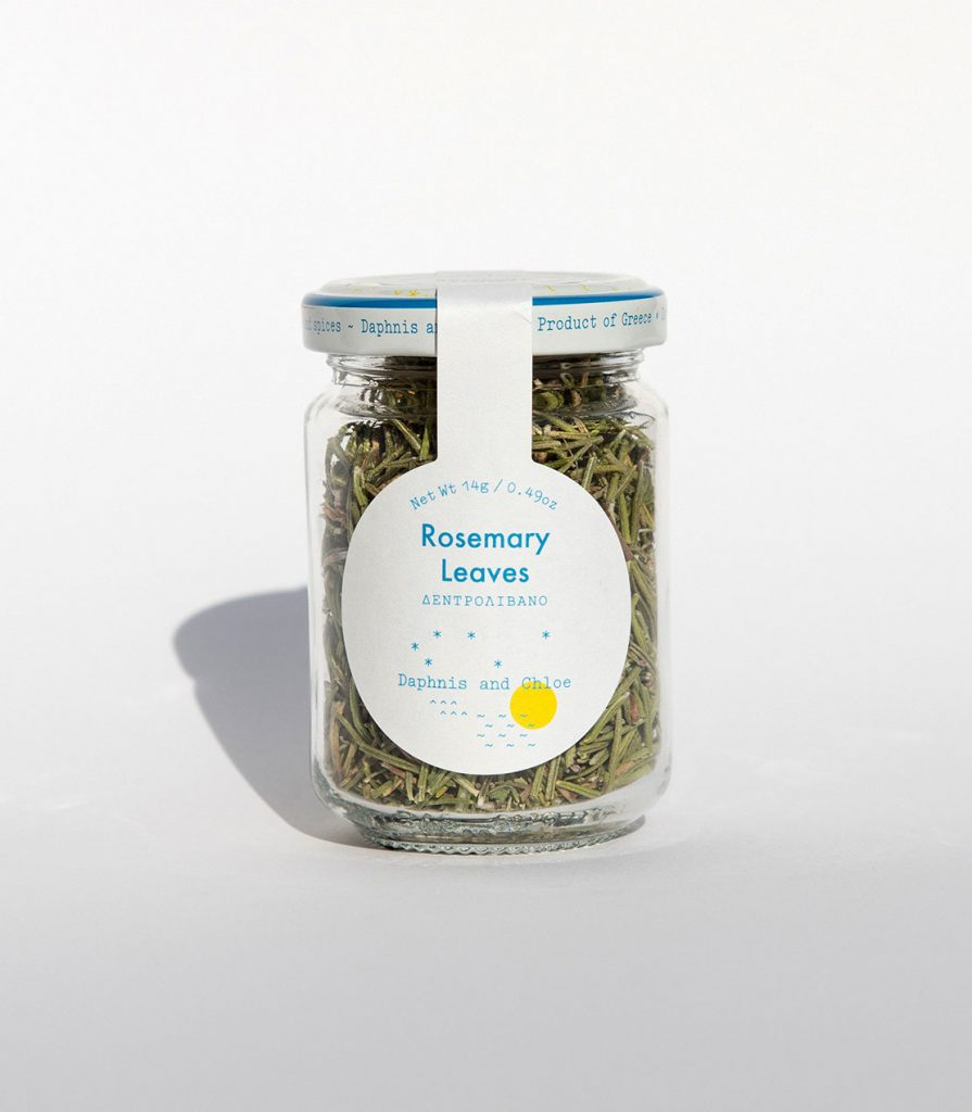Organic Rosemary jar Daphnis and Chloe